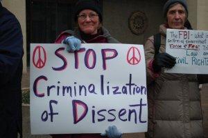 Protest at FBI HQ, 9/12/12
