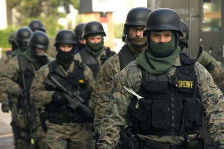 SWAT team. (Via