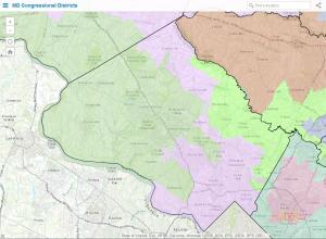 Congressional districts in Montgomery County. Image via