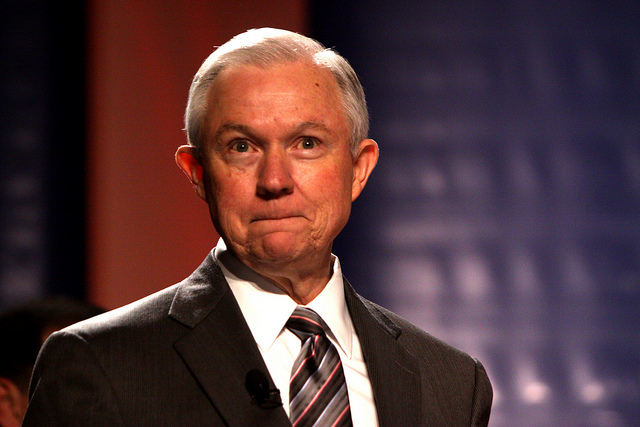 Jeff Sessions smirking