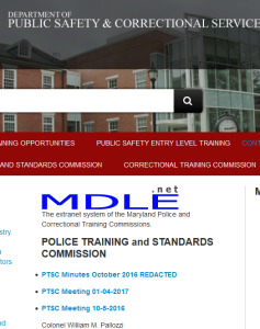 Two meetings in 3 months. And not all that independent from the Maryland Police and Correctional Training Commissions.